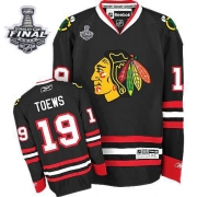 Jonathan Toews Jersey Youth Reebok Chicago Blackhawks 19 Authentic Black With 2013 Stanley Cup Finals NHL Jersey