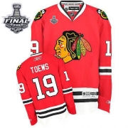 Jonathan Toews Jersey Reebok Chicago Blackhawks 19 Premier Red Home Man With 2013 Stanley Cup Finals NHL Jersey