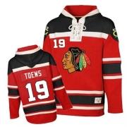 Jonathan Toews Jersey Reebok Chicago Blackhawks 19 Red Sawyer Hooded Sweatshirt Authentic NHL Jersey