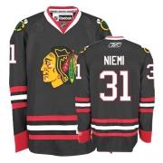 Antti Niemi Jersey Reebok Chicago Blackhawks 31 Premier Black Man NHL Jersey