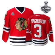 Keith Magnuson Jersey CCM Chicago Blackhawks 3 Premier Red Throwback Man With 2013 Stanley Cup Finals NHL Jersey