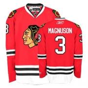 Keith Magnuson Jersey Reebok Chicago Blackhawks 3 Premier Red Home Man NHL Jersey