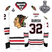 Kris Versteeg Jersey Reebok Chicago Blackhawks 32 Premier White Man With 2013 Stanley Cup Finals NHL Jersey