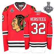 Kris Versteeg Jersey Reebok Chicago Blackhawks 32 Authentic Red Man With 2013 Stanley Cup Finals NHL Jersey