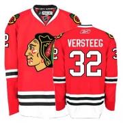 Kris Versteeg Jersey Reebok Chicago Blackhawks 32 Authentic Red Man NHL Jersey