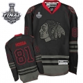 Marian Hossa Jersey Reebok Chicago Blackhawks 81 Black Ice Premier With 2013 Stanley Cup Finals NHL Jersey