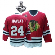 Martin Havlat Jersey CCM Chicago Blackhawks 24 Red Throwback Authentic With 2013 Stanley Cup Finals NHL Jersey