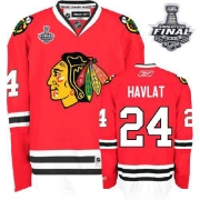 Martin Havlat Jersey Reebok Chicago Blackhawks 24 Authentic Red Man With 2013 Stanley Cup Finals NHL Jersey