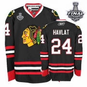 Martin Havlat Jersey Reebok Chicago Blackhawks 24 Authentic Black Man With 2013 Stanley Cup Finals NHL Jersey