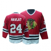 Martin Havlat Jersey CCM Chicago Blackhawks 24 Red Throwback Authentic NHL Jersey