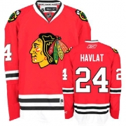 Martin Havlat Jersey Reebok Chicago Blackhawks 24 Authentic Red Man NHL Jersey