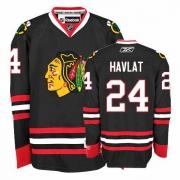 Martin Havlat Jersey Reebok Chicago Blackhawks 24 Authentic Black Man NHL Jersey