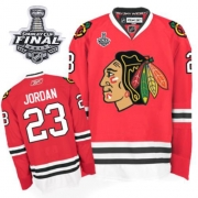 Michael Jordan Jersey Reebok Chicago Blackhawks 23 Premier Red Man With 2013 Stanley Cup Finals NHL Jersey