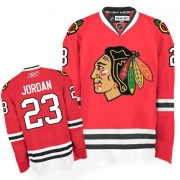 Michael Jordan Jersey Reebok Chicago Blackhawks 23 Authentic Red Man NHL Jersey