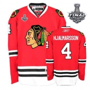 Niklas Hjalmarsson Jersey Reebok Chicago Blackhawks 4 Premier Red Home Man With 2013 Stanley Cup Finals NHL Jersey