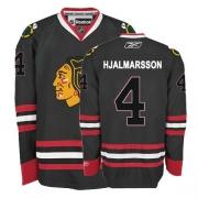 Niklas Hjalmarsson Jersey Reebok Chicago Blackhawks 4 Black Authentic NHL Jersey