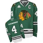 Niklas Hjalmarsson Jersey Reebok Chicago Blackhawks 4 Green Authentic NHL Jersey