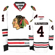 Niklas Hjalmarsson Jersey Reebok Chicago Blackhawks 4 Premier White Man NHL Jersey