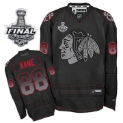 Patrick Kane Jersey Reebok Chicago Blackhawks 88 Black Accelerator Premier With 2013 Stanley Cup Finals NHL Jersey