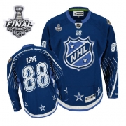Patrick Kane Jersey Reebok Chicago Blackhawks 88 Navy Blue 2012 Authentic With 2013 Stanley Cup Finals NHL Jersey