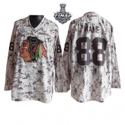 Patrick Kane Jersey Reebok Chicago Blackhawks 88 Camouflage Premier With 2013 Stanley Cup Finals NHL Jersey