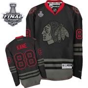 Patrick Kane Jersey Reebok Chicago Blackhawks 88 Black Ice Premier With 2013 Stanley Cup Finals NHL Jersey