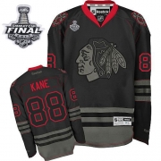 Patrick Kane Jersey Reebok Chicago Blackhawks 88 Black Ice Authentic With 2013 Stanley Cup Finals NHL Jersey