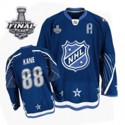 Patrick Kane Jersey Reebok Chicago Blackhawks 88 Authentic Dark Blue With 2013 Stanley Cup Finals NHL Jersey