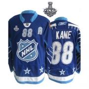 Patrick Kane Jersey Reebok Chicago Blackhawks 88 Premier Blue With 2013 Stanley Cup Finals NHL Jersey