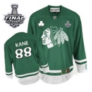Patrick Kane Jersey Youth Reebok Chicago Blackhawks 88 Authentic Green St Pattys Day With 2013 Stanley Cup Finals NHL Jersey
