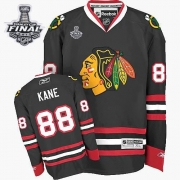 Patrick Kane Jersey Youth Reebok Chicago Blackhawks 88 Premier Black With 2013 Stanley Cup Finals NHL Jersey