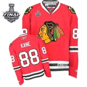Patrick Kane Jersey Youth Reebok Chicago Blackhawks 88 Premier Red Home With 2013 Stanley Cup Finals NHL Jersey