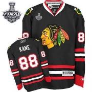 Patrick Kane Jersey Reebok Chicago Blackhawks 88 Premier Black Man With 2013 Stanley Cup Finals NHL Jersey