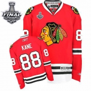 Patrick Kane Jersey Reebok Chicago Blackhawks 88 Premier Red Home Man With 2013 Stanley Cup Finals NHL Jersey