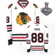 Patrick Kane Jersey Youth Reebok Chicago Blackhawks 88 Authentic White With 2013 Stanley Cup Finals NHL Jersey