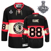 Patrick Kane Jersey Reebok Chicago Blackhawks 88 Authentic Green Man With 2013 Stanley Cup Finals NHL Jersey