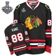 Patrick Kane Jersey Reebok Chicago Blackhawks 88 Authentic Black Man With 2013 Stanley Cup Finals NHL Jersey