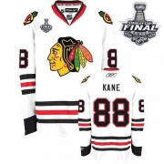 Patrick Kane Jersey Reebok Chicago Blackhawks 88 Authentic White Man With 2013 Stanley Cup Finals NHL Jersey