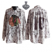 Patrick Sharp Jersey Reebok Chicago Blackhawks 10 Camouflage Premier With 2013 Stanley Cup Finals NHL Jersey