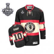 Patrick Sharp Jersey Reebok Chicago Blackhawks 10 Authentic Black New Third Man With 2013 Stanley Cup Finals NHL Jersey