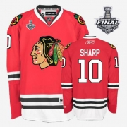 Patrick Sharp Jersey Reebok Chicago Blackhawks 10 Authentic Red Home Man With 2013 Stanley Cup Finals NHL Jersey