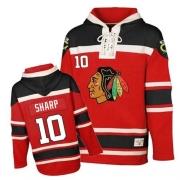 Patrick Sharp Jersey Reebok Chicago Blackhawks 10 Red Sawyer Hooded Sweatshirt Authentic NHL Jersey