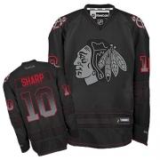 Patrick Sharp Jersey Reebok Chicago Blackhawks 10 Black Accelerator Authentic NHL Jersey