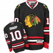 Patrick Sharp Jersey Youth Reebok Chicago Blackhawks 10 Premier Black NHL Jersey