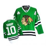 Patrick Sharp Jersey Reebok Chicago Blackhawks 10 Premier Green Man NHL Jersey