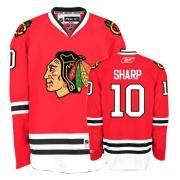 Patrick Sharp Jersey Reebok Chicago Blackhawks 10 Premier Red Home Man NHL Jersey