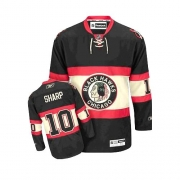 Patrick Sharp Jersey Youth Reebok Chicago Blackhawks 10 Authentic Black New Third NHL Jersey