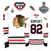 Tomas Kopecky Jersey Reebok Chicago Blackhawks 82 Authentic White Man With 2013 Stanley Cup Finals NHL Jersey