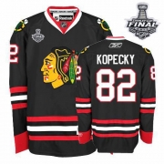 Tomas Kopecky Jersey Reebok Chicago Blackhawks 82 Authentic Black Man With 2013 Stanley Cup Finals NHL Jersey