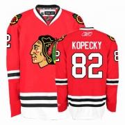 Tomas Kopecky Jersey Reebok Chicago Blackhawks 82 Premier Red Home Man NHL Jersey